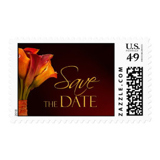 Save the date Calla Lily Wedding Postage
