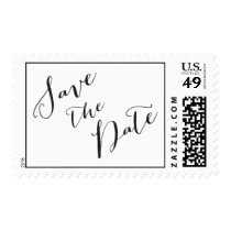 Save the Date calligraphy | Wedding Postage Stamp