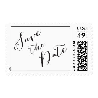 Save the Date calligraphy   Wedding Postage Stamp