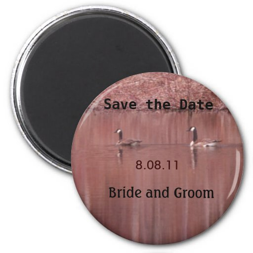 Save the Date Canada Geese Magnet