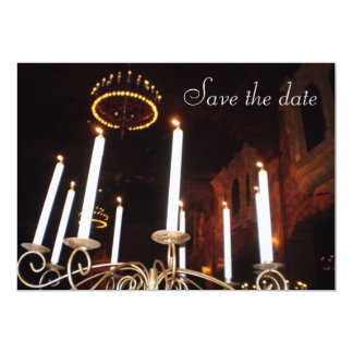 Save the date... candles card