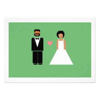 Save the date card -- African-American couple