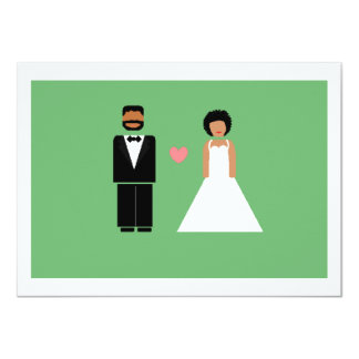 """Save the date card -- African-American couple 4.5"""" X 6.25"""" Invitation Card"""