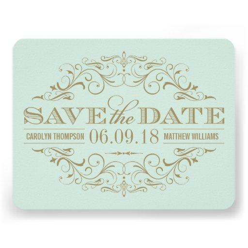 Save the Date Card   Antique Flourish