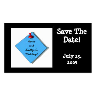 SAVE THE DATE CARD BLACK BUSINESS CARD