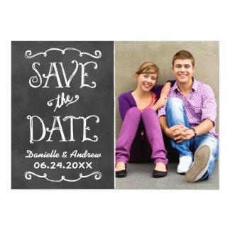Save the Date Card | Black Chalkboard Charm