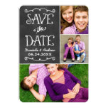 Save the Date Card | Black Chalkboard Charm Personalized Announcement