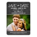 Save the Date Card | Black Chalkboard Charm Custom Invite