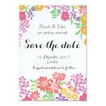 Save the date card floral bright fun botanical