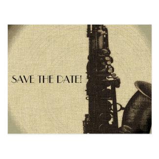 SAVE THE DATE card  jazz age wedding invitation