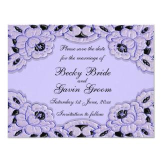 Save the Date Card Lilac Lane Wedding Set