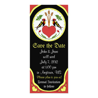 Save the Date Card - Long, Happy Relationship Hex