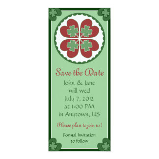 Save the Date Card - Lucky in Love Hex