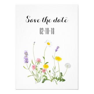 Save the date card, rustic wedding, boho wedding card