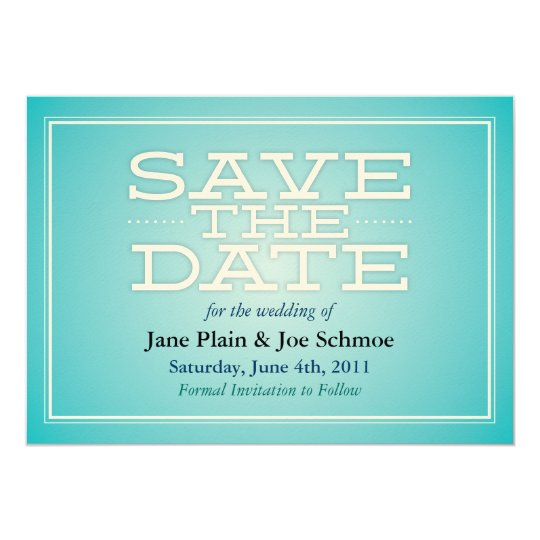 Save the Date Card - Teal