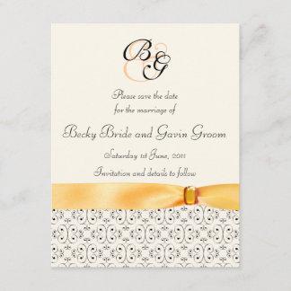 Save the Date Card Topaz Wedding Set