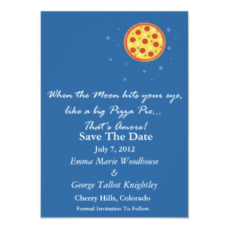 Save The Date Card - When The Moon Hits Your Eye
