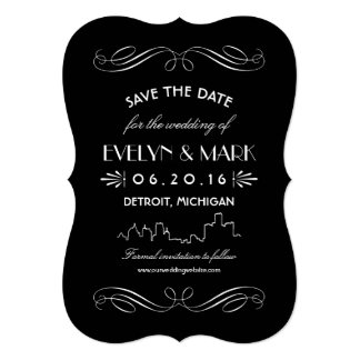 Save the Date Cards | Art Deco Collage
