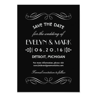 Save the Date Cards | Art Deco Style