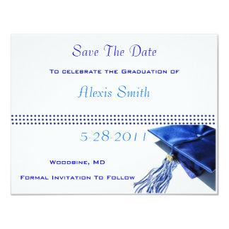 Save The Date Cards - Blue Graduation Cap
