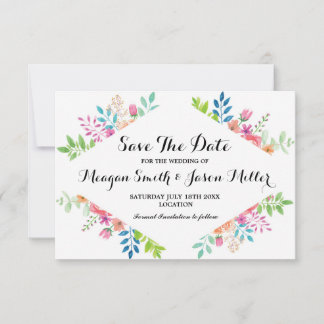 Save The Date Cards Floral Wedding Formal Party