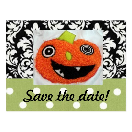 Save the Date Cards for Halloween Wedding