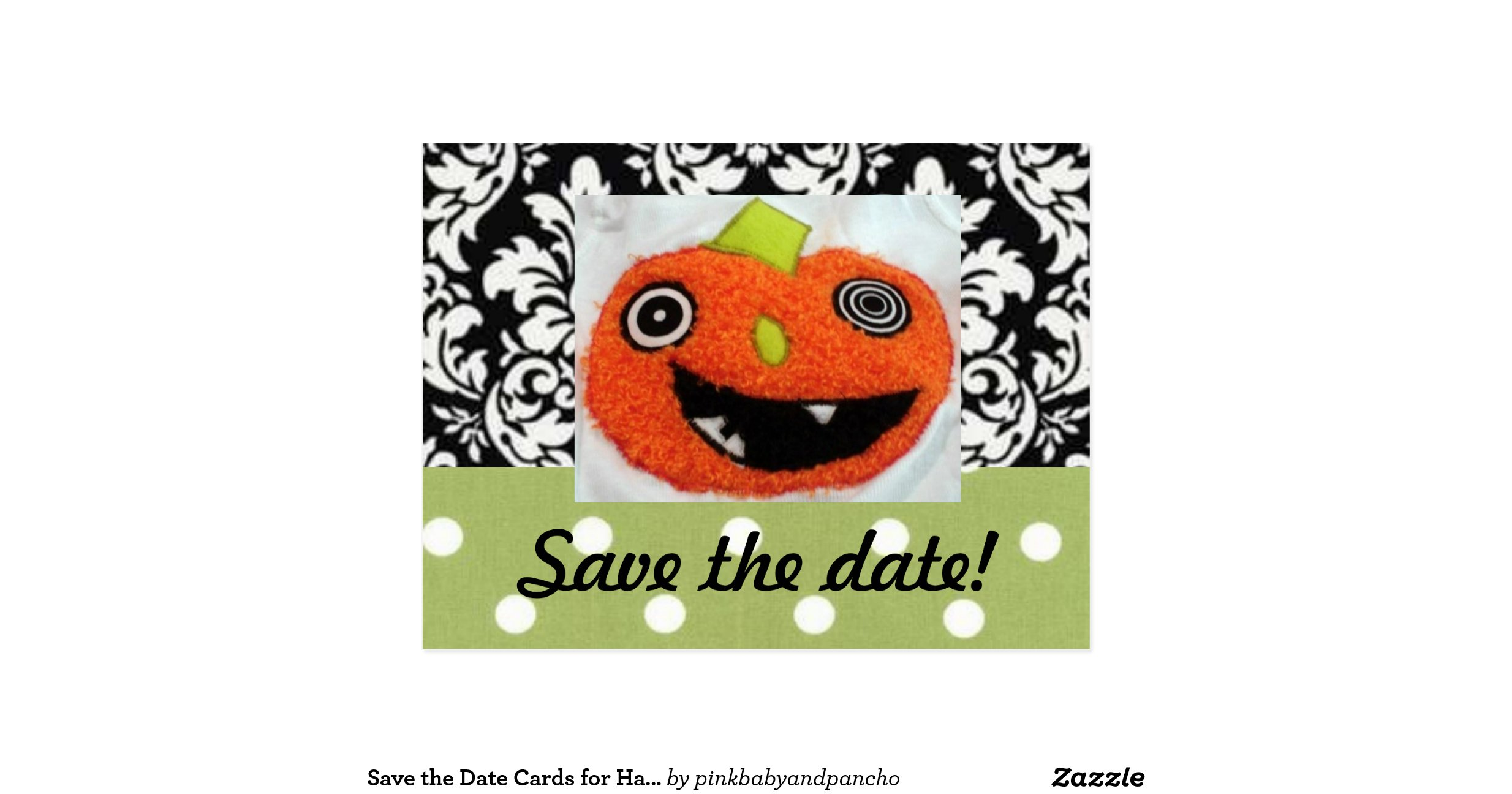 Save The Date Cards For Halloween Wedding Postcard