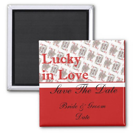 Save the Date Casino Las Vegas Wedding Magnets Fridge Magnet