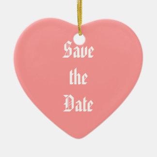 Save the Date Ceramic Ornament