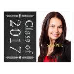 Save the Date Chalkboard Graduation Postcard