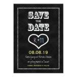 Save the Date Chalkboard or Blackboard Invitation Invites