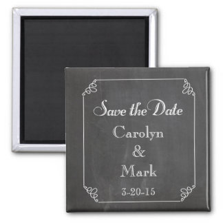 Save the Date, Chalkboard Rustic Vintage Wedding Refrigerator Magnet