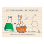 Save the Date Chemistry Postcards