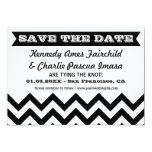 Save the Date Chevron Wedding Cards