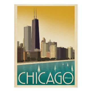 Save the Date | Chicago, IL - Skyline Postcard