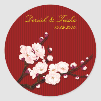 Save the date , chinese wedding designed by Kanjiz Classic Round Sticker
