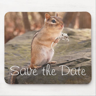 Save the Date Chipmunk Mousepad