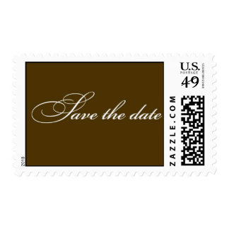 Save the Date - Chocolate brown Postage