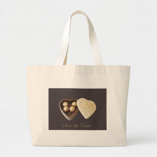 Save The Date Chocolate Hearts Canvas Bag