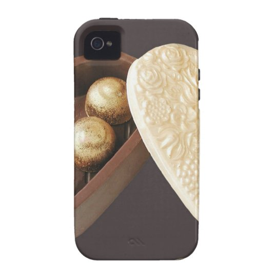 Save The Date Chocolate Hearts iPhone 4/4S Case