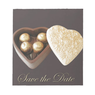 Save The Date Chocolate Hearts Memo Pads