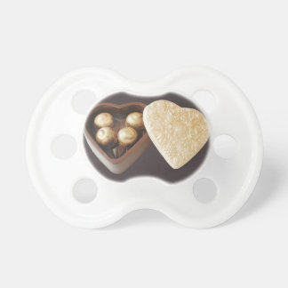 Save The Date Chocolate Hearts Baby Pacifier