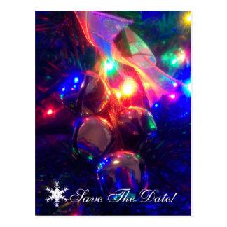 Save the Date Christmas postcard