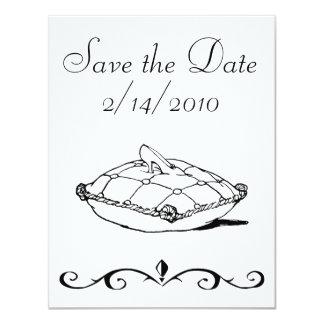 Save the Date Cinderella Slipper Art Invitations