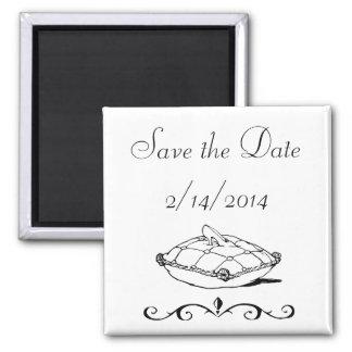 Save the Date Cinderella Slipper Fairytale Art Magnet