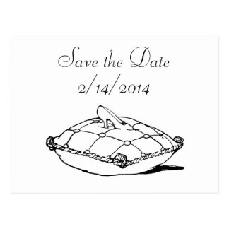 Save the Date Cinderella Slipper Fairytale Art Postcard
