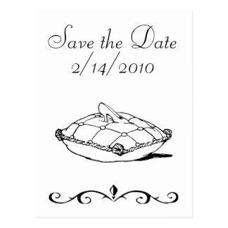 Save the Date Cinderella Slipper Fairytale Art Post Card