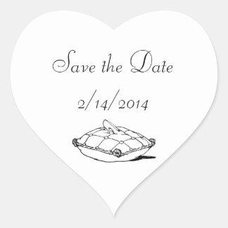 Save the Date Cinderella Slipper Heart Stickers