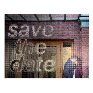 Save The Date Circle Dot Font Postcard