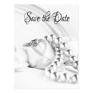 Save the Date Classic Engagement Ring Postcard